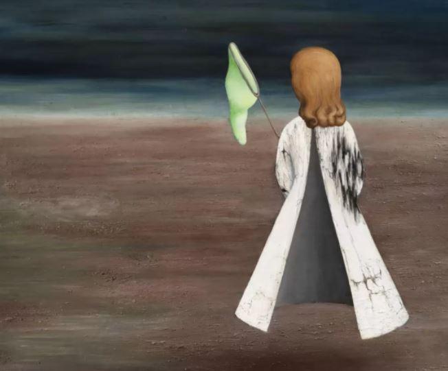Toyen obraz divka se sitkou na motýly